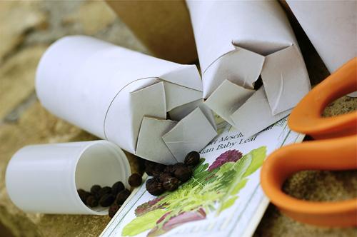 Seed tubes folded
